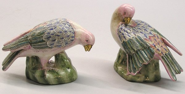 24: Pair of Chinese ceramic birds