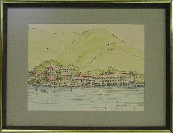 4005: Watercolor, Coastal Landscape