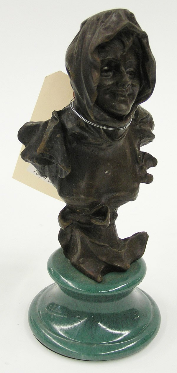 4009: Bronze patinated bust