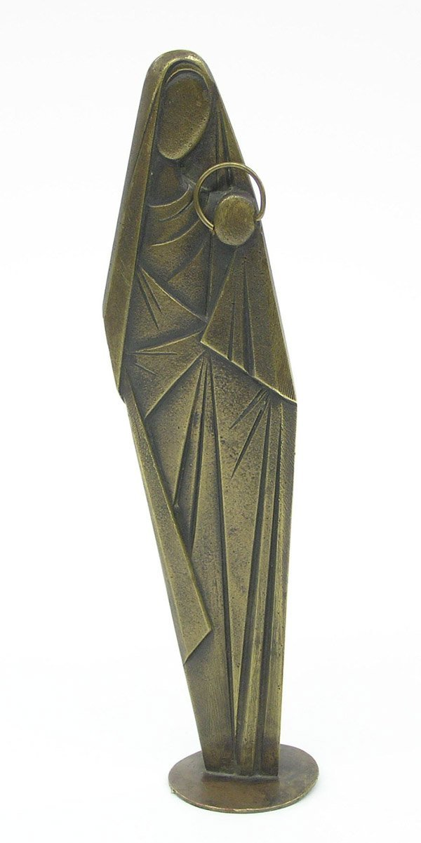 4010: Austrian cast bronze Art Deco madonna