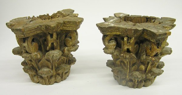 4014: carved wood architectural fragments
