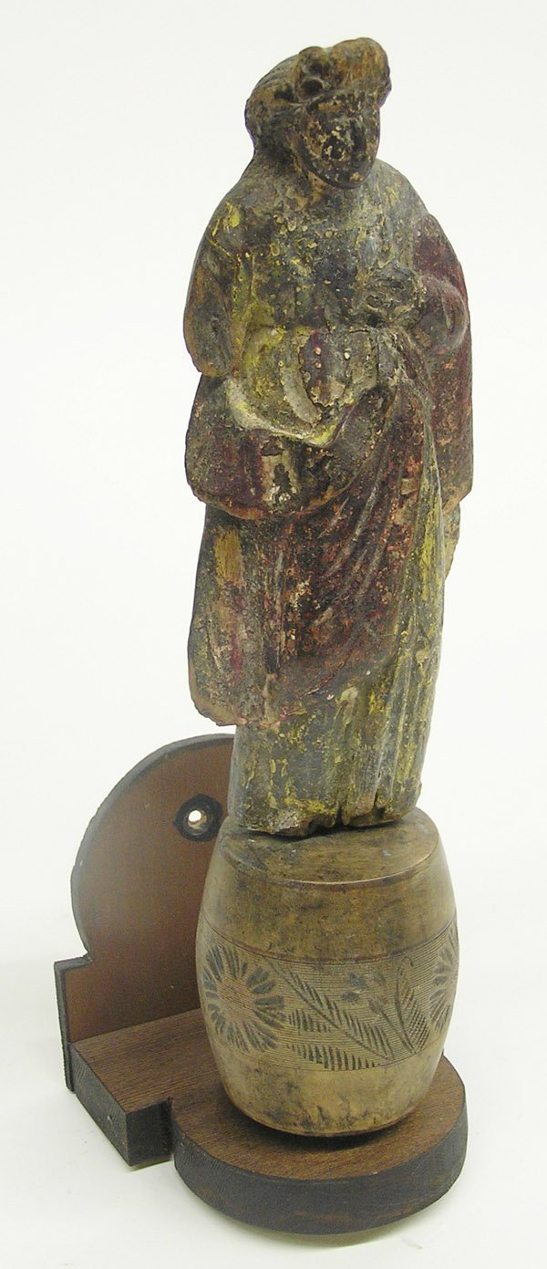 4018: Carved and painted Santo figure
