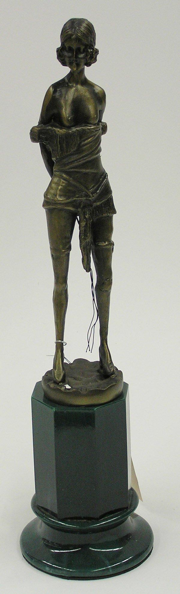 4019: Cast metal nude strumpet figure