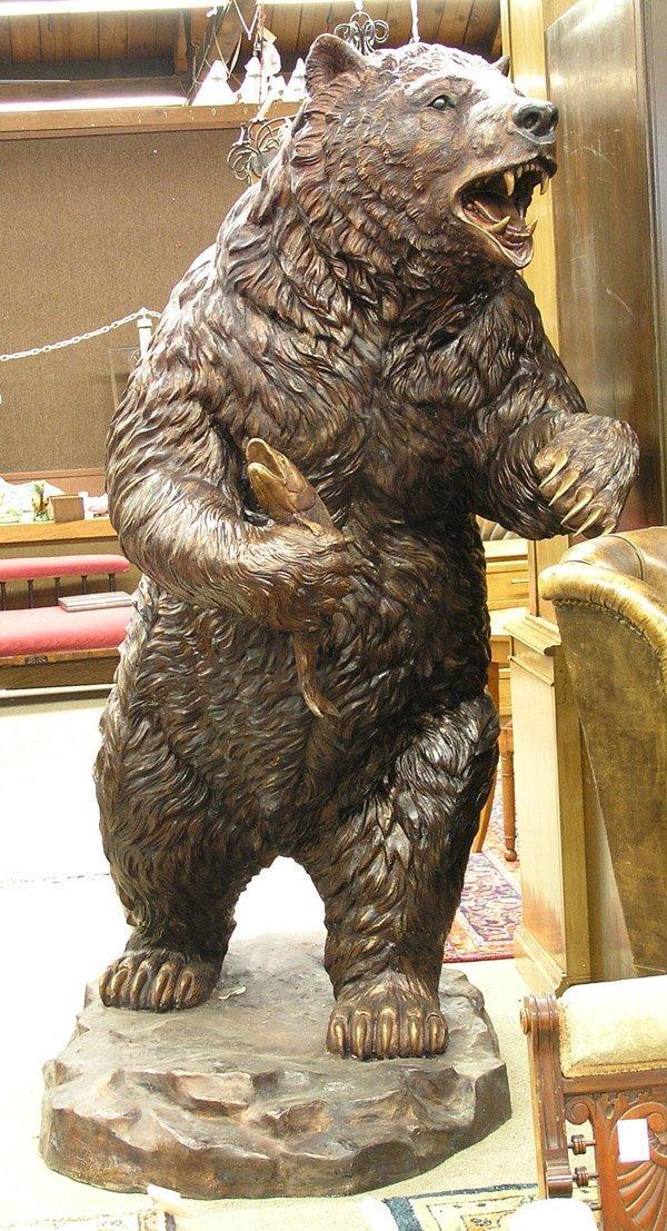 4164: Life-size bronze bear