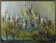 4348: Oil painting abstract landscape