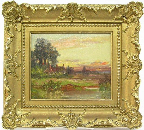 6004: Painting Landscape Dusk 19th Century