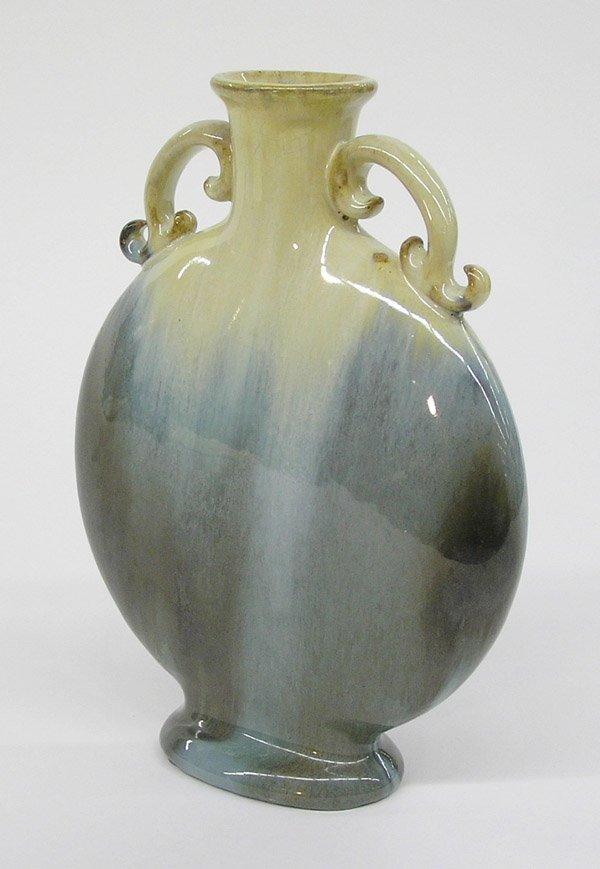 6018: Fulper art pottery pilgrim bottle vase