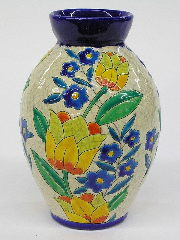 6021: Boch Freres ovoid vase