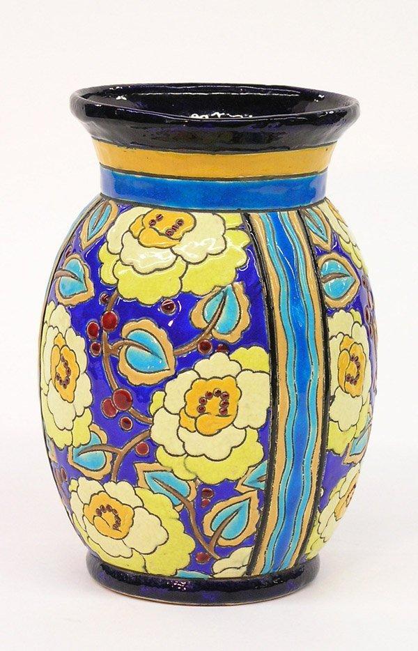 6023: Boch Freres ovoid vase