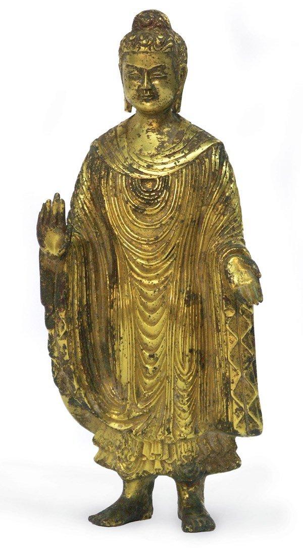 6568: Chinese Rare Gilt-Bronze Buddha Figure