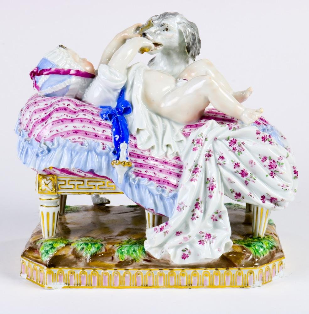A Meissen porcelain group The Placidness of Childhood