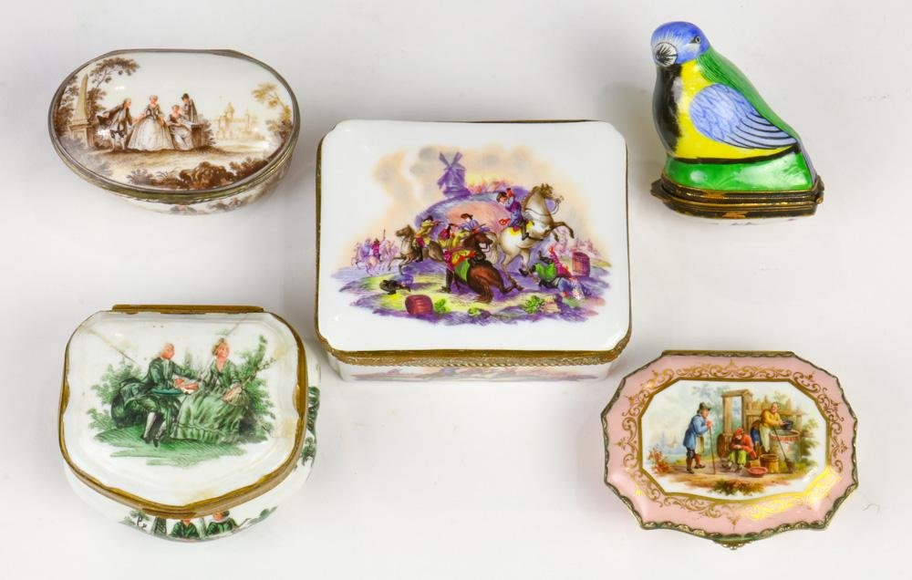 (lot of 5) A Meissen and continental group of