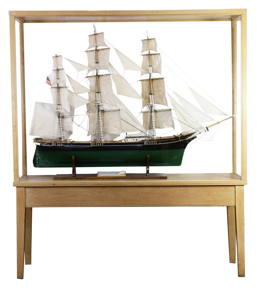 A scratch built scale model of the clipper ship