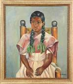 Painting Portrait of a Young Girl