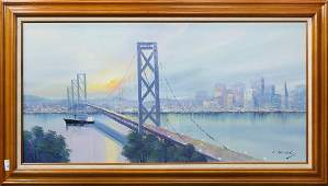 Painting, View of San Francisco and the Bay Bridge