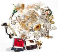 Collection of costume jewelry, watches and items