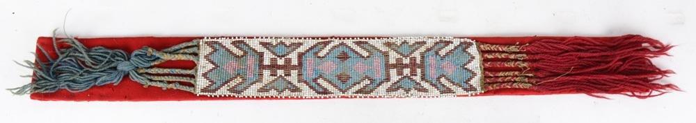 Native American Great Plains beadwork