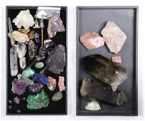 (lot of approx. 34) Collection of crystals and