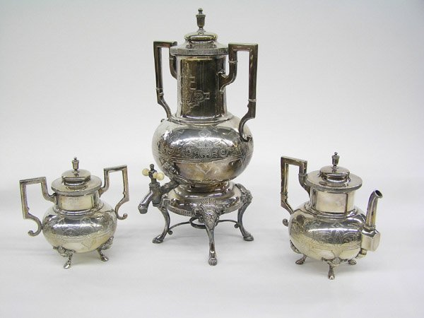 14: silverplate tea service victorian 1875