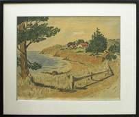 463 Watercolor Pastoral Frank Serratoni