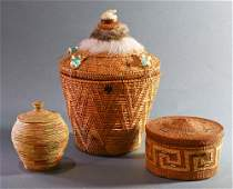Pacific Northwest American Indian baskets