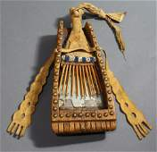 Eastern Woodlands American Indian mirror board and comb