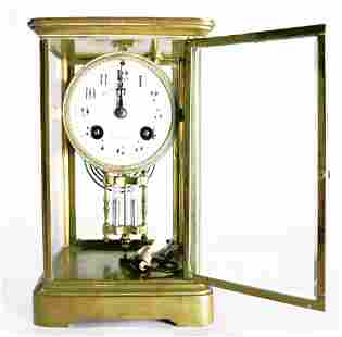 A French eight day crystal regulator