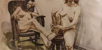 Print, Philip Pearlstein