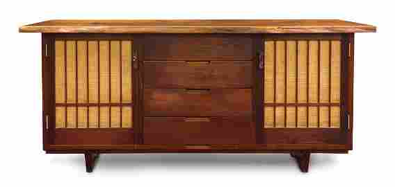 Andy Franz walnut cabinet executed in 1972