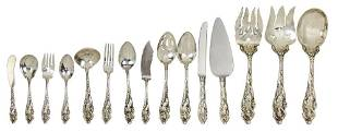 (lot of 109) A Reed and Barton Love Disarmed flatware