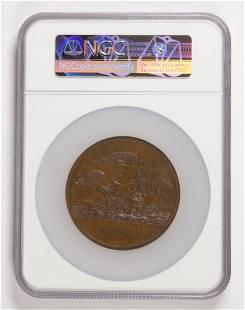 Capt Isaac Hall NGC MS 63 bronze undated JNA12 AE