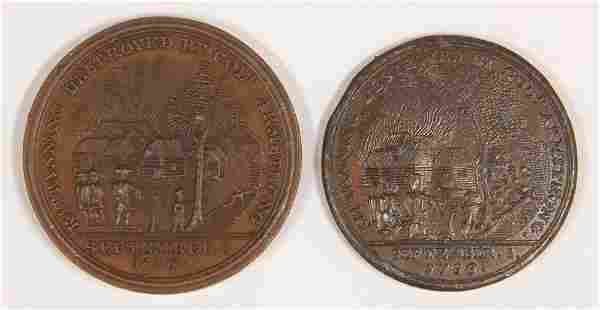 Lot of 2 Kittanning Destroyed medals Battle with Nat