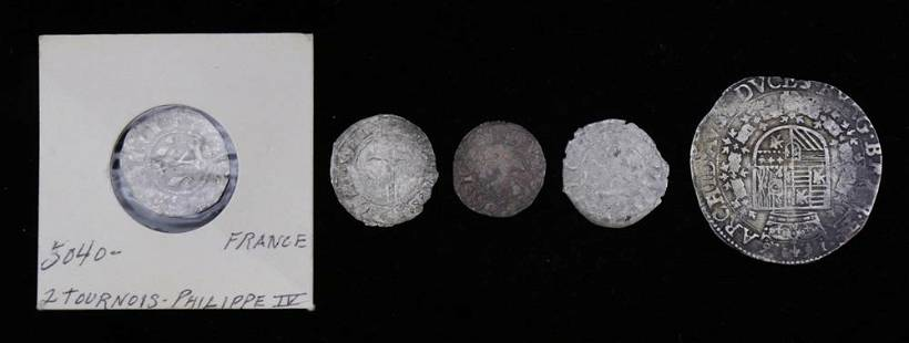 Lot of 5 Ancient french coins