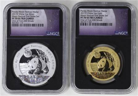 China Panda Moon Festival GoldSilver Medals