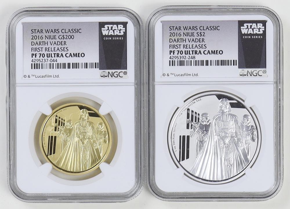 Star Wars Darth Vader Niue Gold/Silver Set