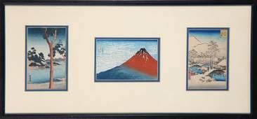Japanese Small Woodblock Prints Hokusai Hiroshige