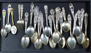 (lot of 24) Sterling silver spoon lot