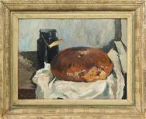 Painting, Still Life with Bread and Water Can