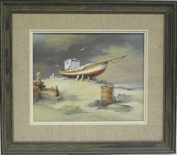 4005: Painting, Drawing, Boat, Bridge