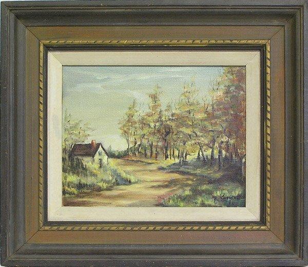 4009: Painting, Landscape, House