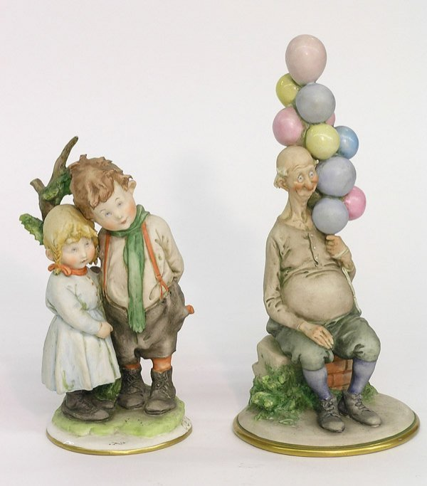 4023: Cappe hand painted bisque figures