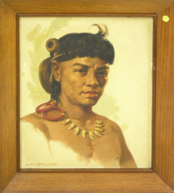 4671: Painting, Lopez, Portrait