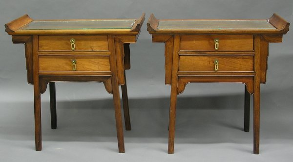6465: Pair Chinese Rosewood Side Cabinets