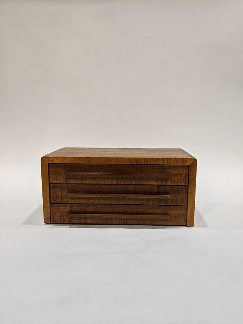 A Hawaiian Koa wood jewelry box