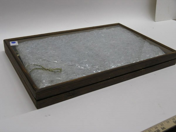 5906: Wood and glass display case