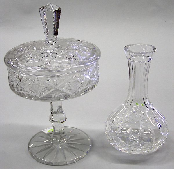 Waterford Decanter & Crystal Cut Candy Dish