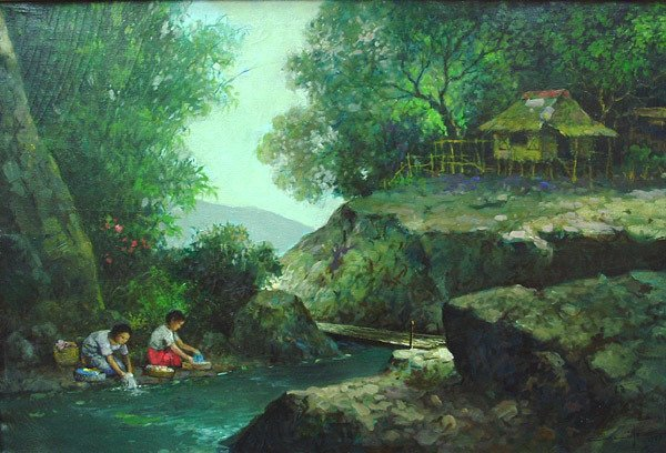 6185: Crispin V. Lopez, Filipino painting