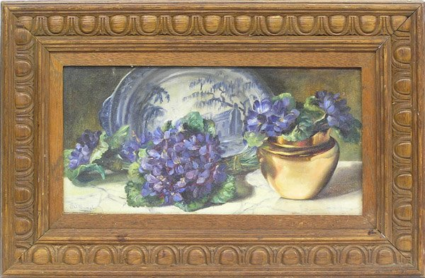 7: Painting Still Life Violets Wormsley