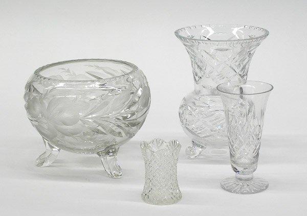 11: Hawkes Gravic Glass tripod glass bowl