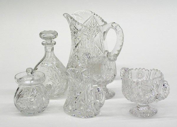 13: American brilliant cut glass pitcher